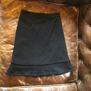 GAP Skirts - GAP black tweed high waist flared skirt
